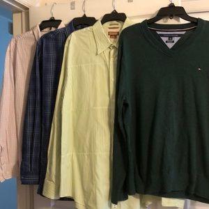 Men's button down shirts & sweater (mixed)